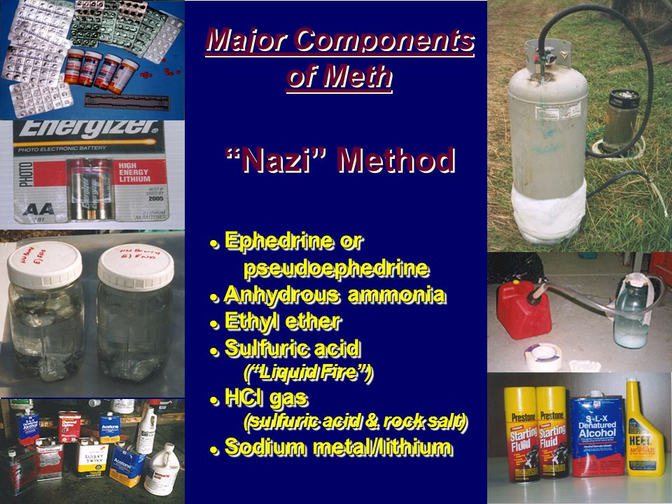 Major Components of Meth