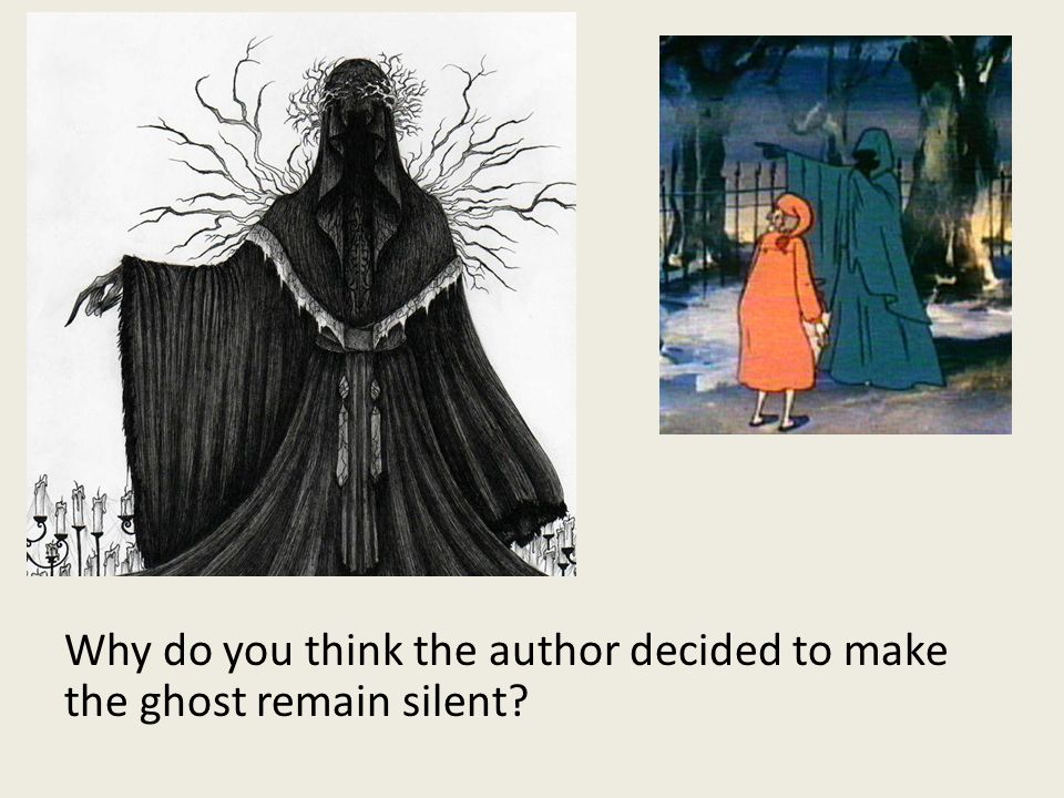 Why do you think the author decided to make the ghost remain silent