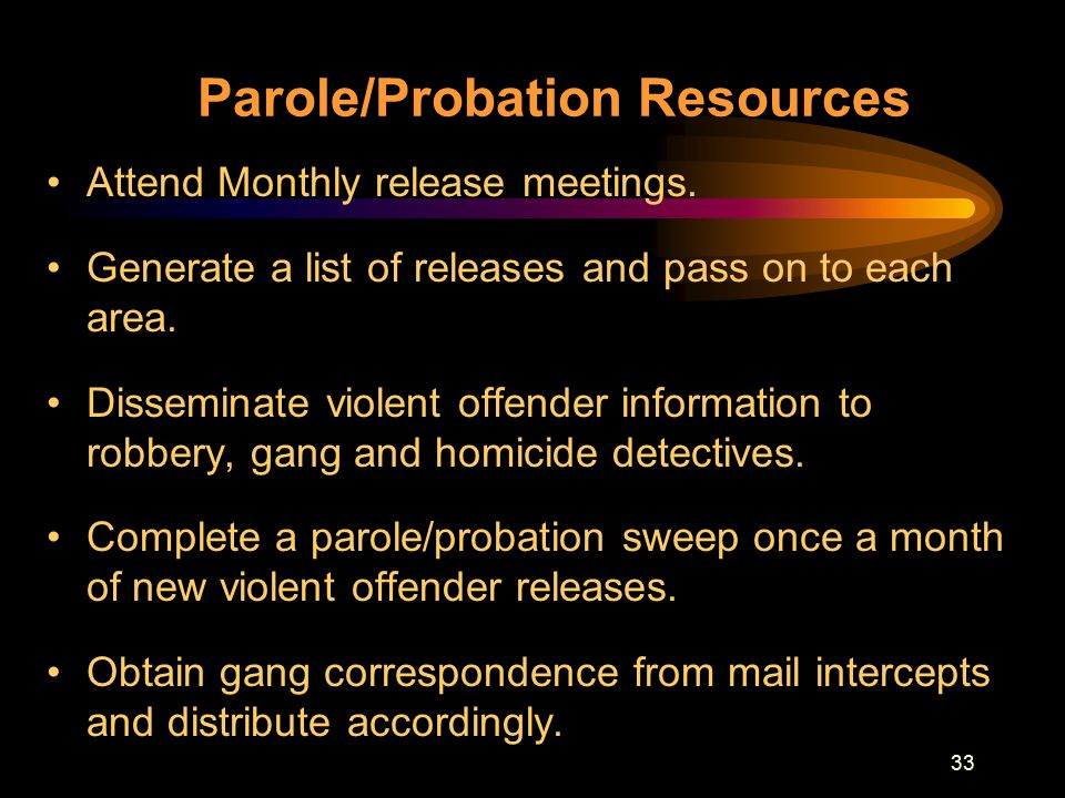 parole release should parole release abolished A bill (house bill 4548) is pending in the state house that attempts to reduce unjustified parole denials by the parole board by such measures as permitting appeals and requiring parole board interviews to be recorded but the real solution (my solution, not capps') might be to abolish the parole board altogether.