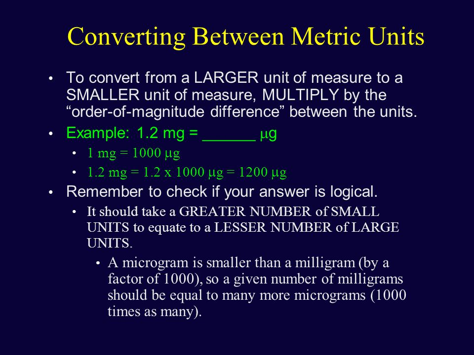 how to state the order of magnitube of a number