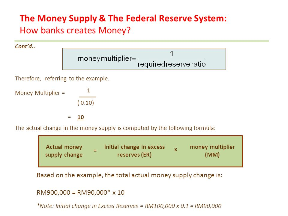 money multiplier mechanism Money multiplier [math]m=(1+c)/  how do money velocity and money multiplier connect to each other  what is the mechanism to print currency in the country.