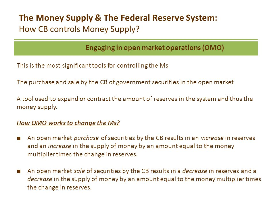 3 tools fed uses to control money supply The federal reserve has three major tools that it can use to control money supply  growth and interest rates- reserve requirements, discount rate, open market.