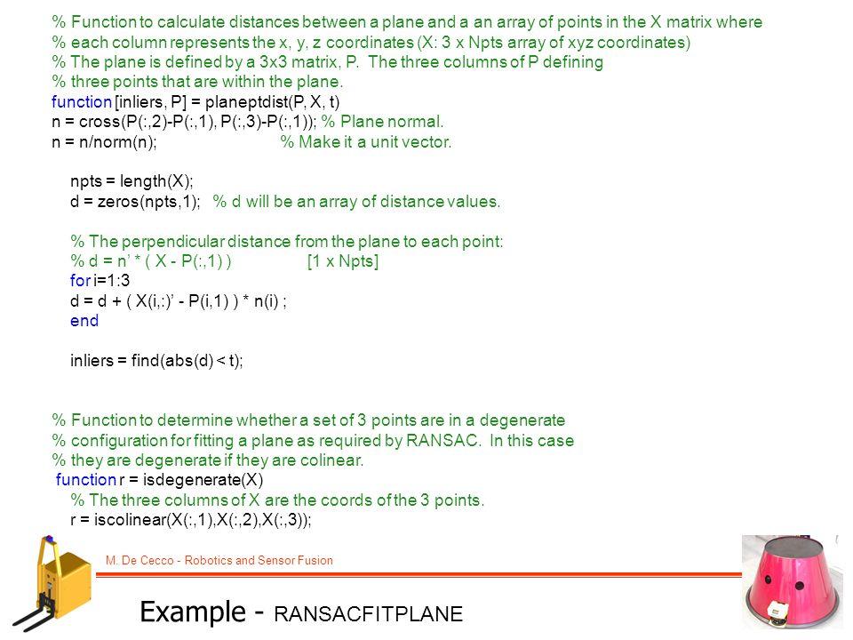 Example - RANSACFITPLANE