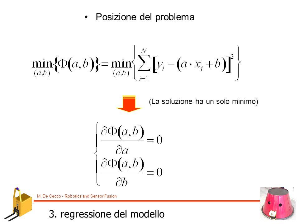 3. regressione del modello