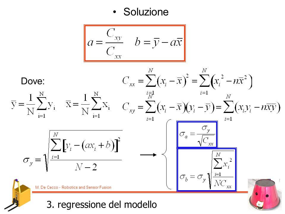 Soluzione Dove: 3. regressione del modello