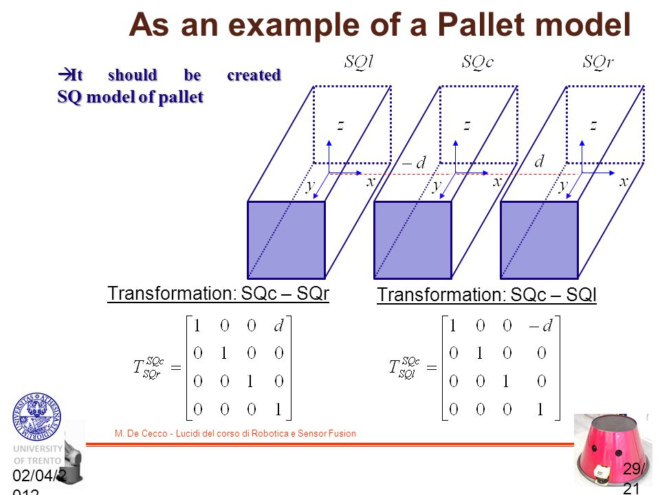 As an example of a Pallet model
