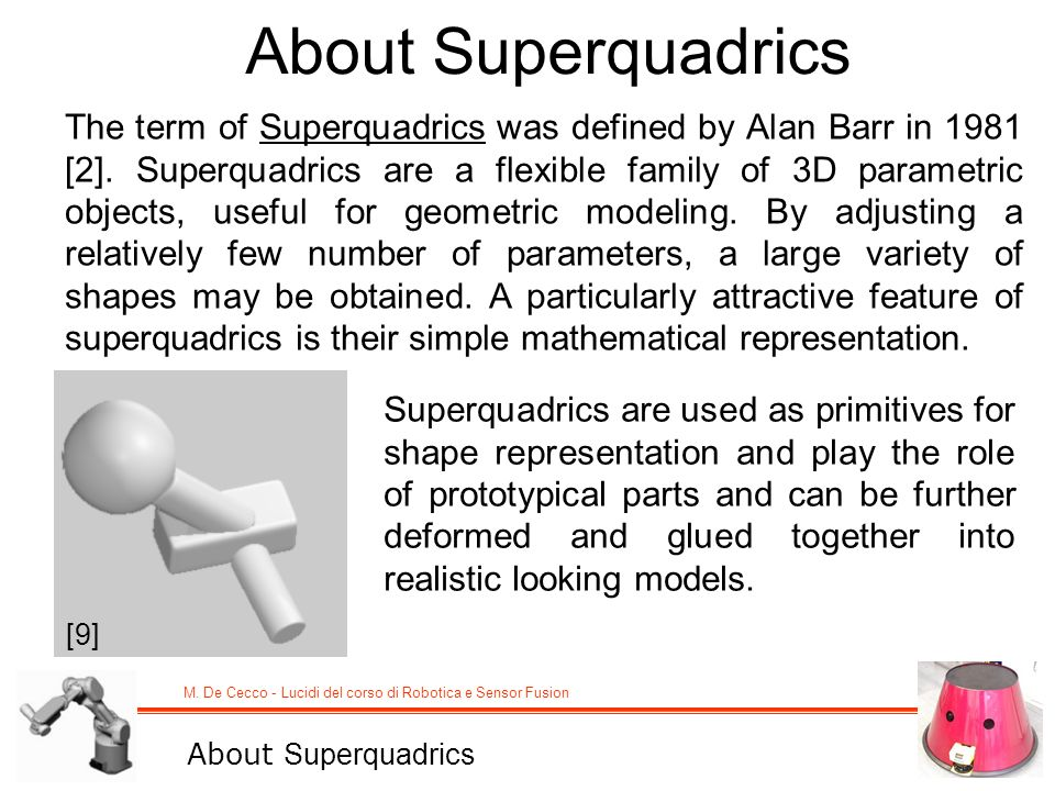 About Superquadrics