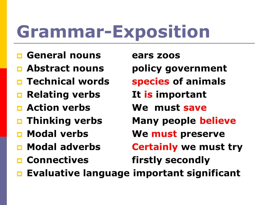 Grammar-Exposition General nouns ears zoos