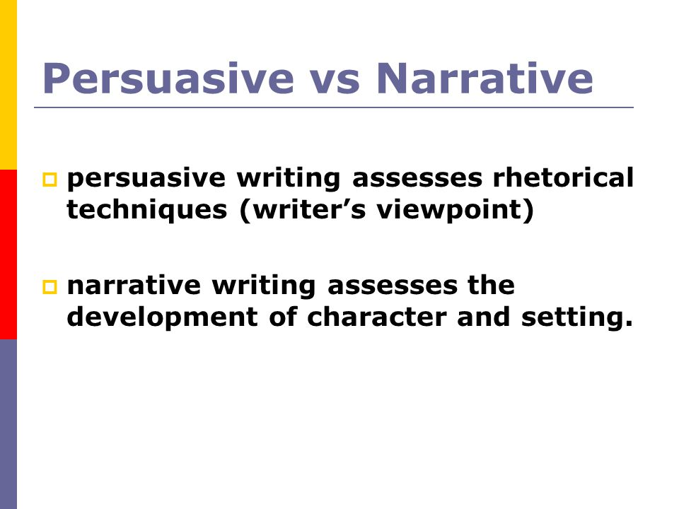 Persuasive vs Narrative
