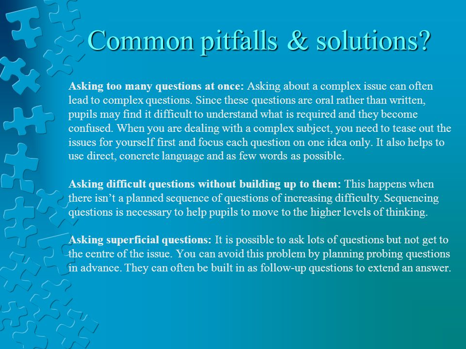Common pitfalls & solutions