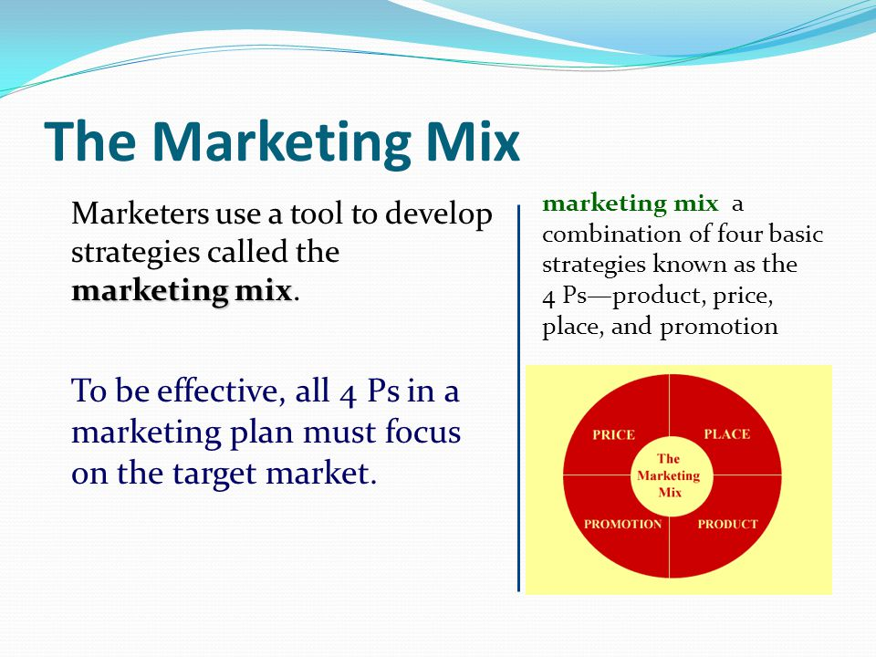 what is the marketing mix and Marketing mix, a term coined by neil borden, are the ingredients that combine to capture and promote a brand or product's unique selling points, those that.