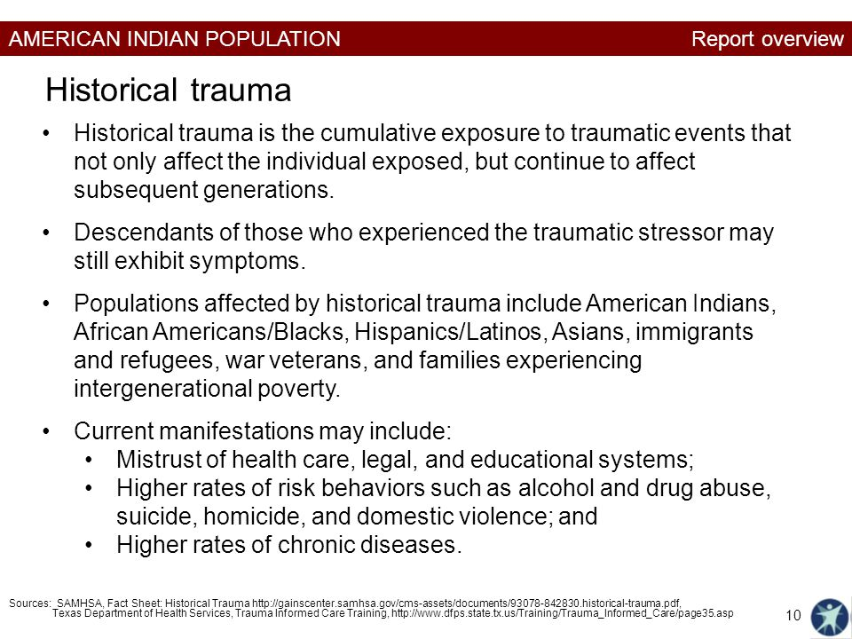 historical trauma families Indigenous researchers have demonstrated the connections between historical experiences of the impact of historical trauma today a from their families.
