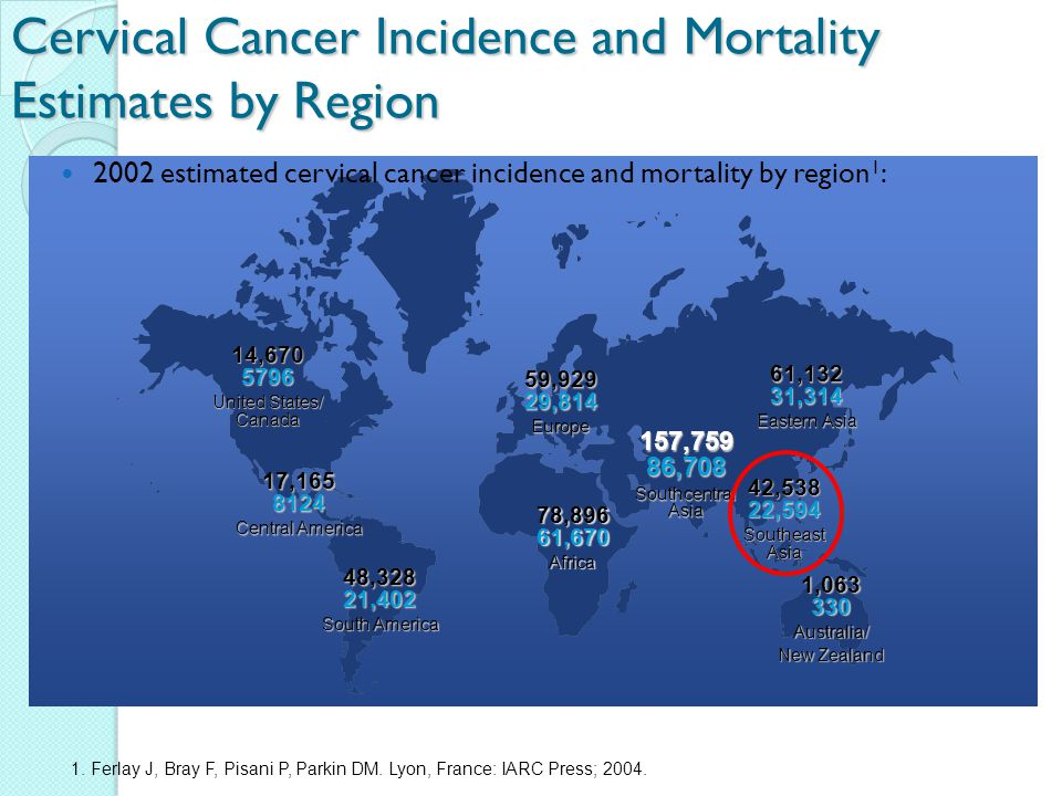 Cervical Cancer Incidence and Mortality Estimates by Region