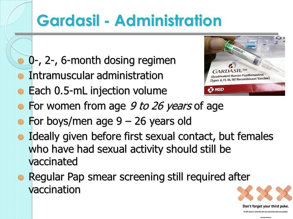Gardasil - Administration