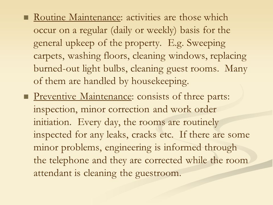 5 major problems that occurs in the housekeeping department Solves any problems in their assigned area reports any accident that occurs to manager possesses full knowledge of the specific duties, responsibilities, and skills of each member of the housekeeping department.