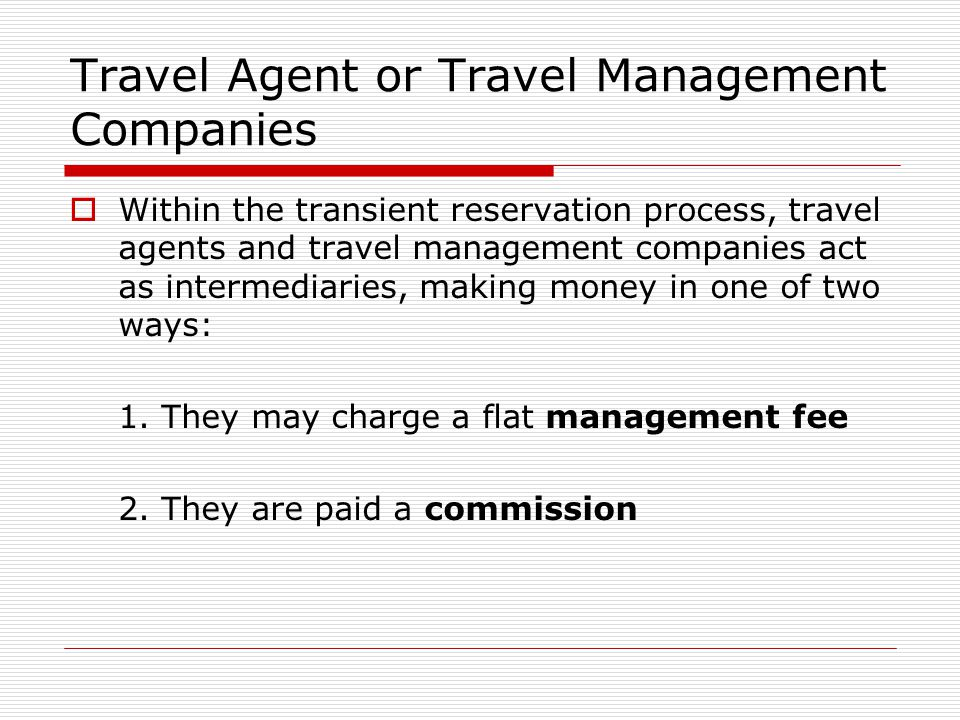 Travel Agent or Travel Management Companies