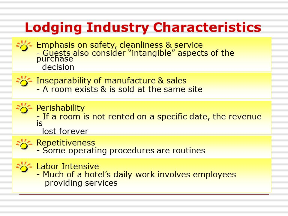 Lodging Industry Characteristics