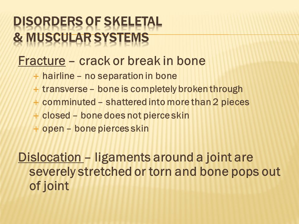 Disorders of Skeletal & Muscular systems