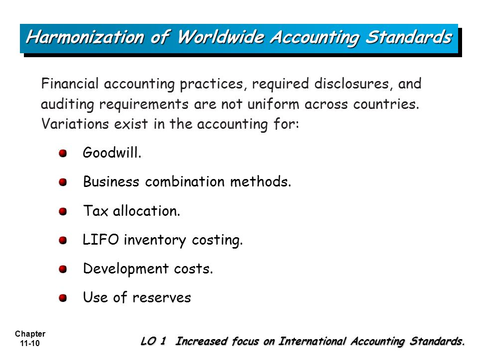 harmonisation of accounting standards essay