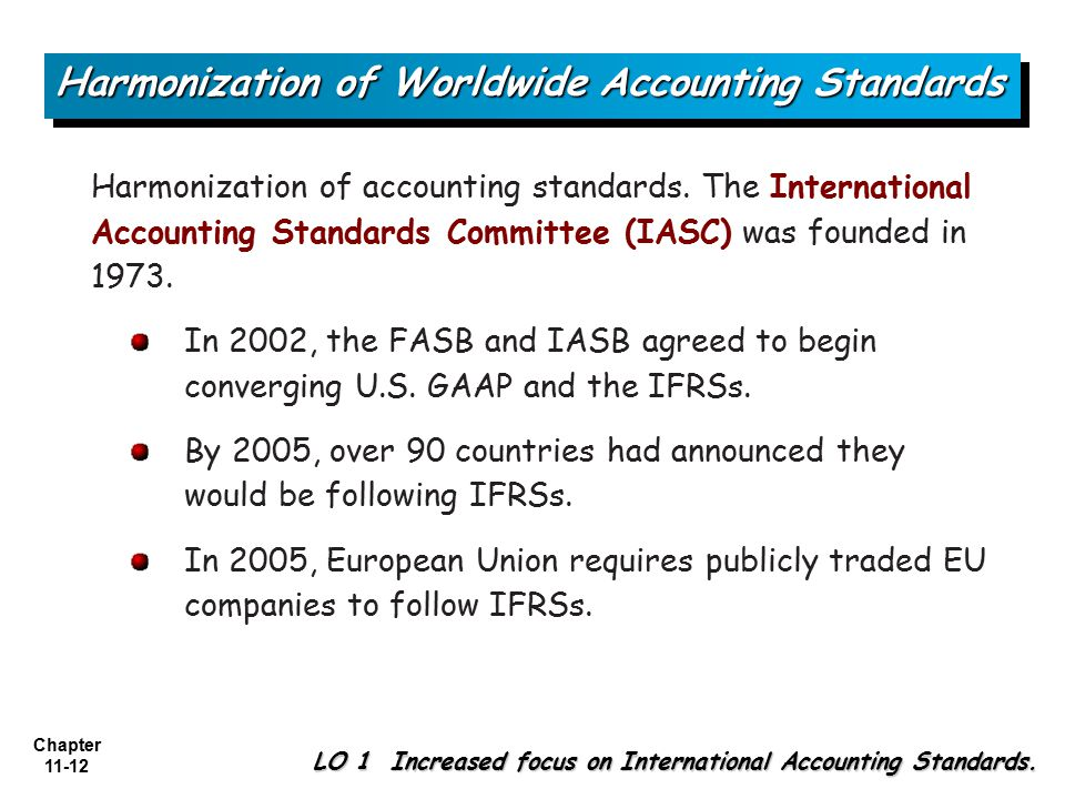 harmonization accounting standards essay International accounting harmonization and assess for decades, entities across the world have been using a range of different accounting standards derived from various accounting models weber (1992) states that there have historically been four accounting standards models from different areas of the globe: the united kingdom, continental .