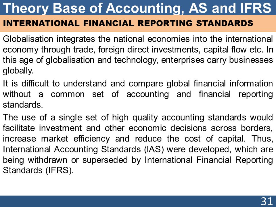 comparing international financial reporting standards essay Comparing us gaap and ifrs accounting systems  the business and its financial statements comparing gaap and international financial reporting standards.