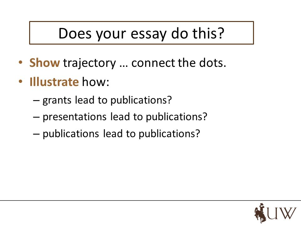 Do your essay