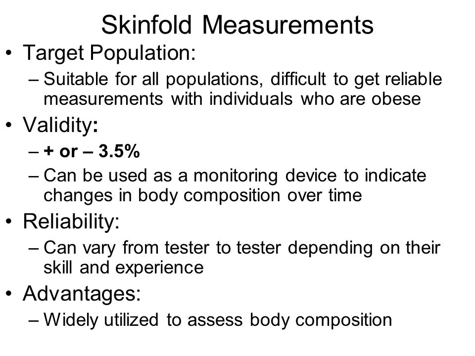 how to take skinfold measurements