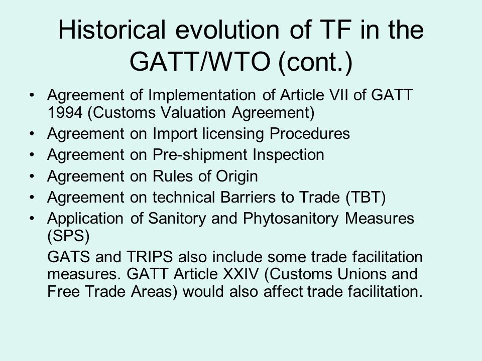 Trade facilitation wto doha round south asia ppt download historical evolution of tf in the gattwto cont platinumwayz