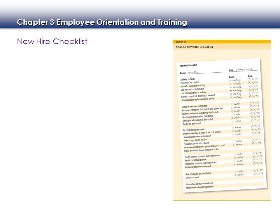 new employee orientation checklist form
