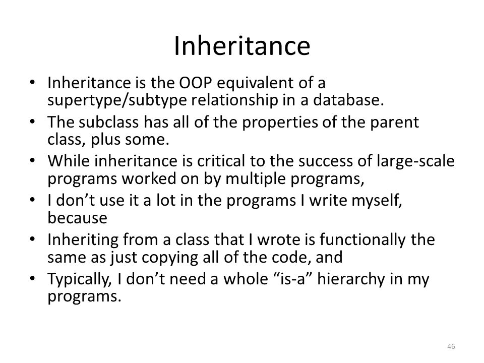 is a and has relationship in inheritance