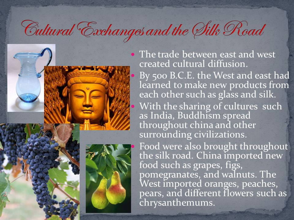 Cultural Exchanges and the Silk Road