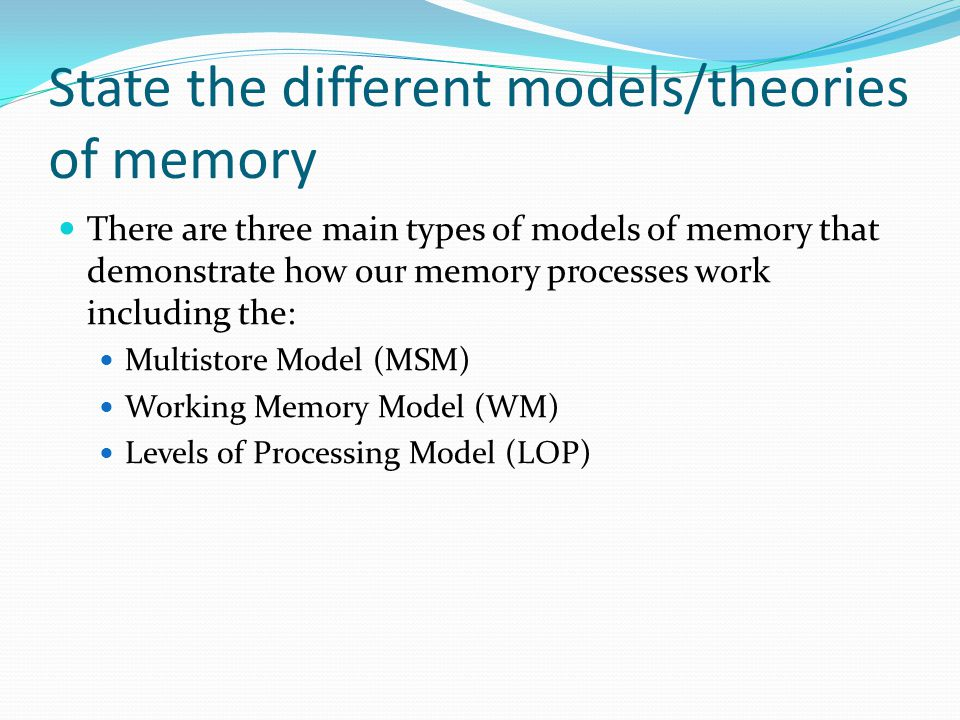Understanding how memory works and its different types