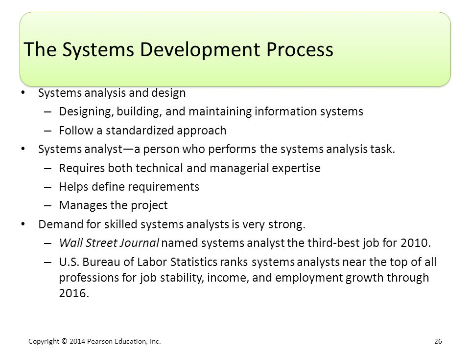 The Systems Development Process