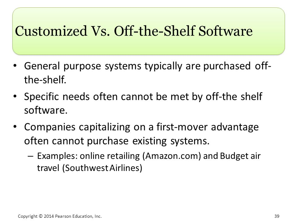 Customized Vs. Off-the-Shelf Software