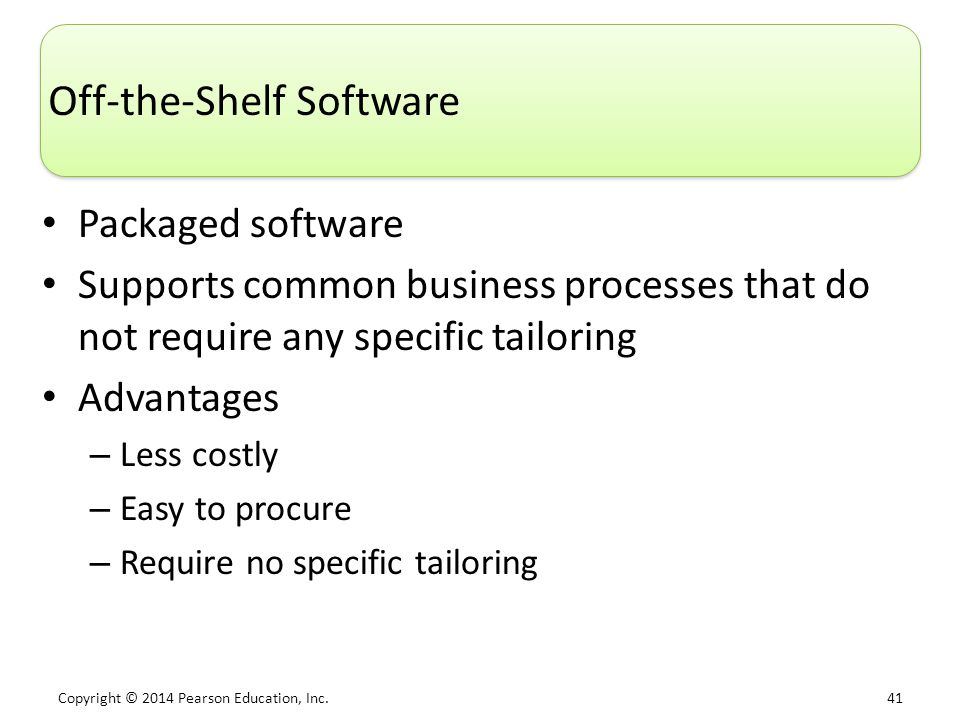 Off-the-Shelf Software