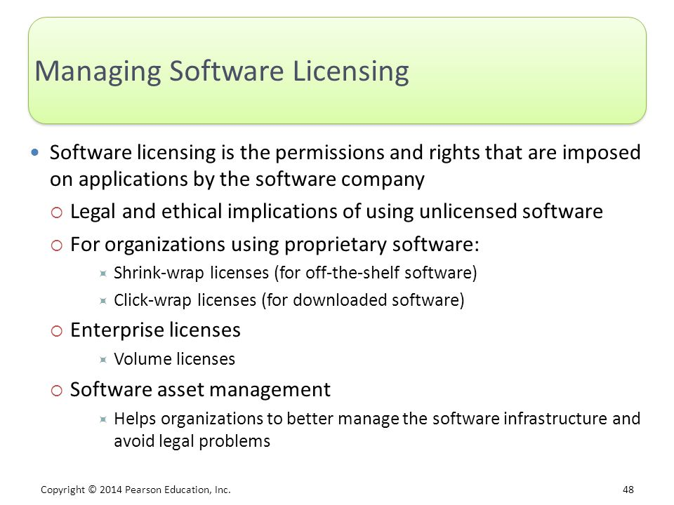 Managing Software Licensing