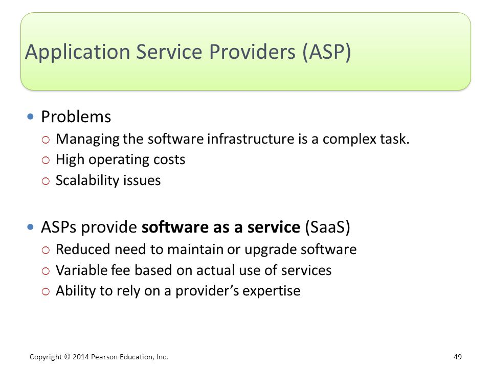 Application Service Providers (ASP)