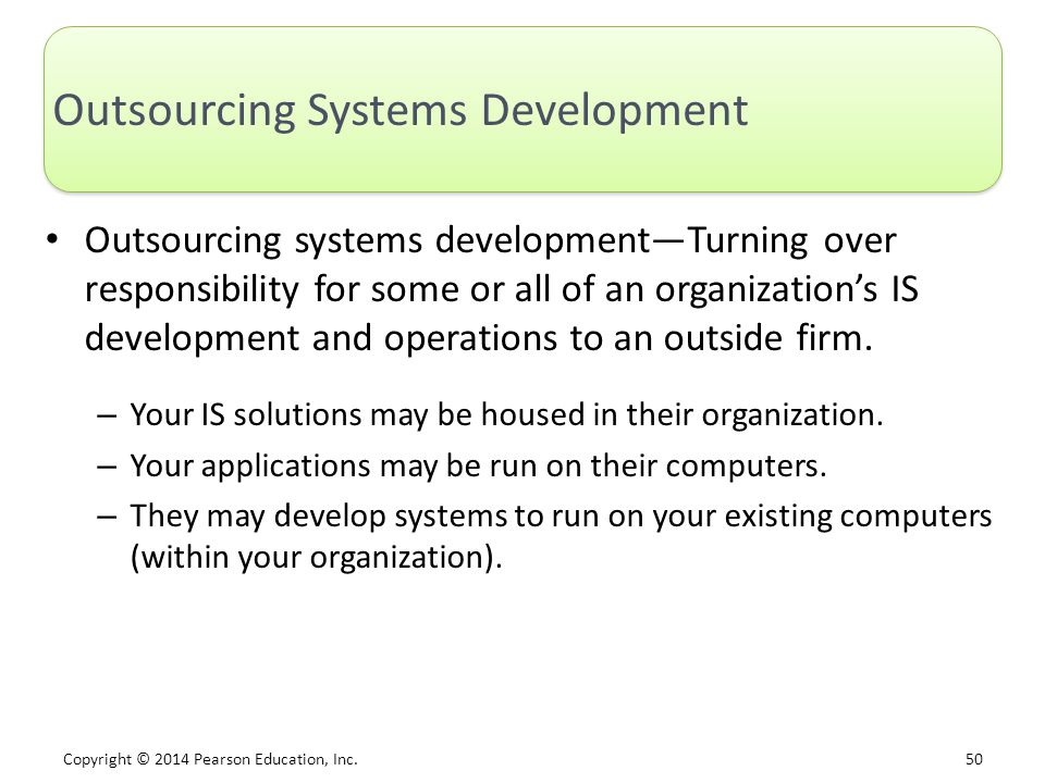 Outsourcing Systems Development