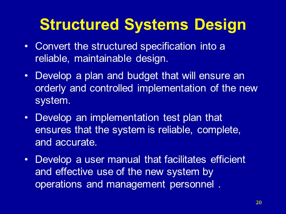Structured Systems Design