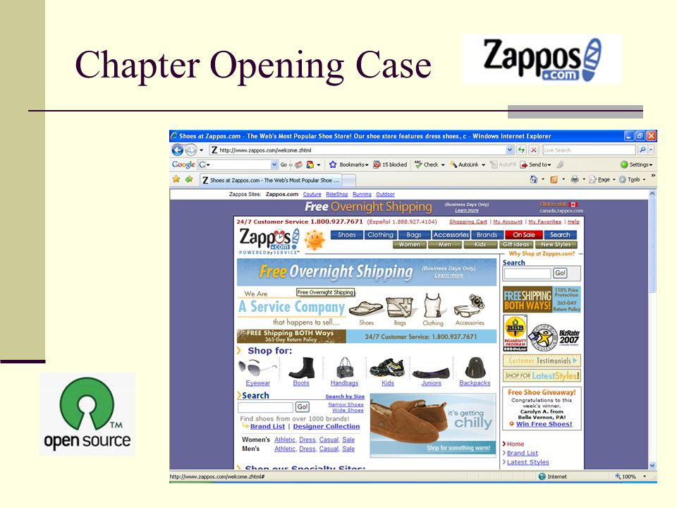 Chapter Opening Case The open source logo is that of the Open Source Initiative. Clicking on the logo.