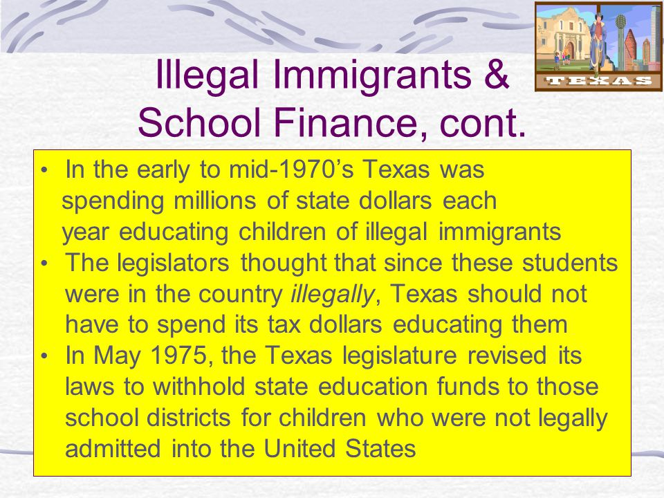 should children of illegal immigrants get an education I do not believe that children of illegal immigrants should be able to recieve an education, and i think that alabama's registration law is a good idea the registration law is a good way to insure that children of illegal immigrants are not attending the schools and recieving an amenity that children of the citizens of america are lucky to have.