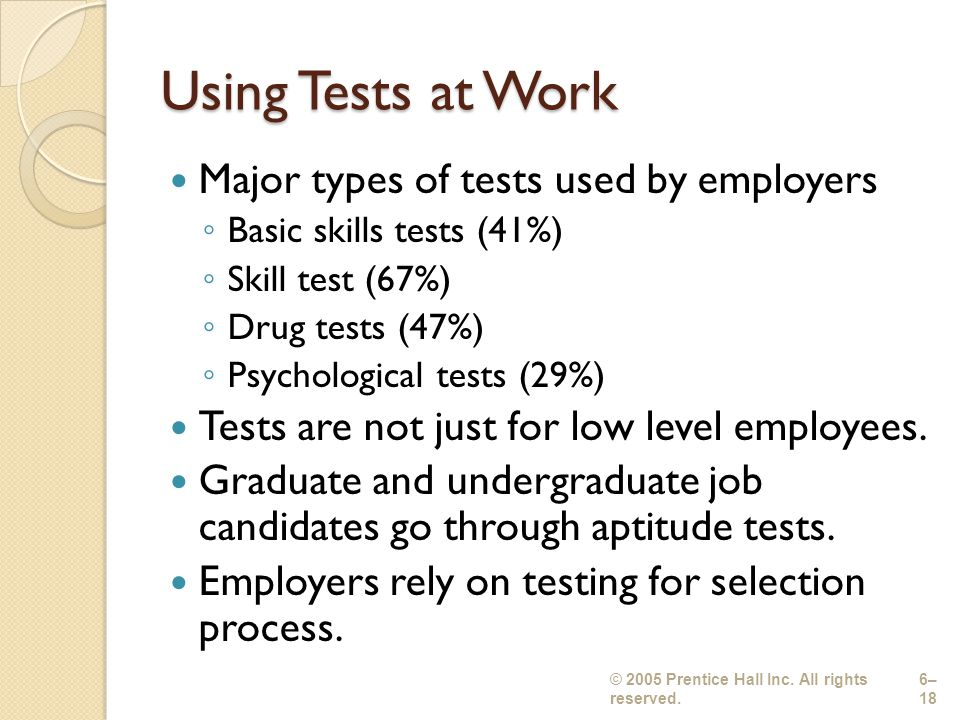EMPLOYEE TESTING Chapter 5 - ppt video online download