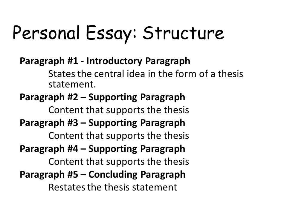 structure of personal essay Whether you are writing a personal essay for in case you are not confident if it is convenient to employ this or that grammar structure for your essay or if.