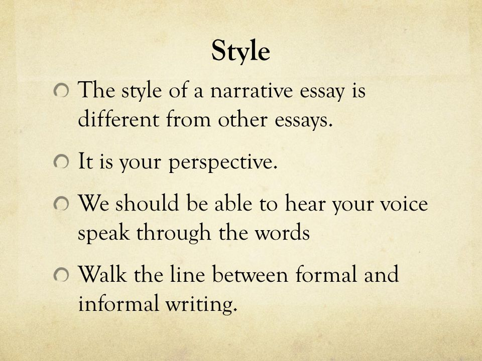 formal outline for a narrative essay Narrative & descriptive outlines can be a helpful tool when you're trying to organize your thoughts for an essay or you can make a formal outline if you.