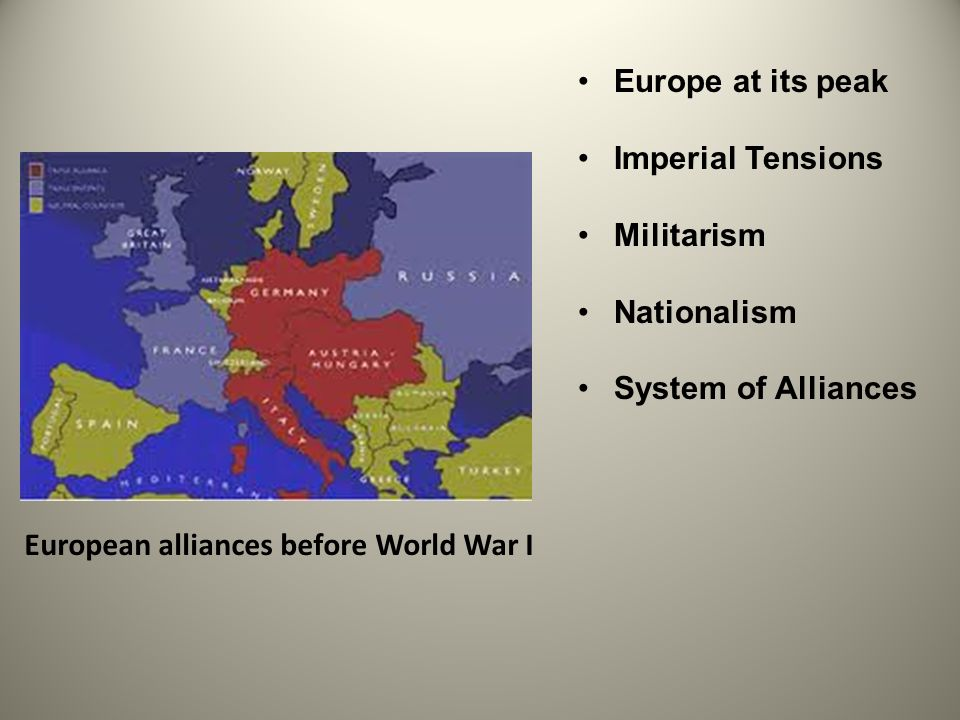 tensions in europe before ww1