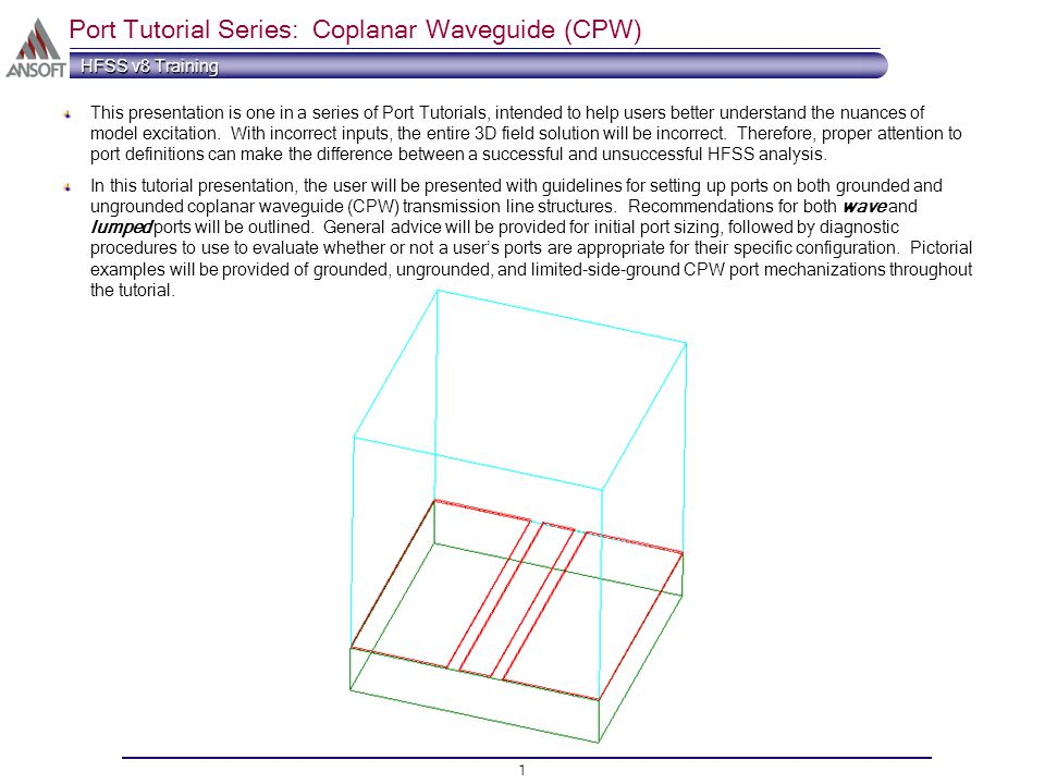 port tutorial series coplanar waveguide cpw ppt video online rh slideplayer com Transmission Line Design Cavity Filter Design