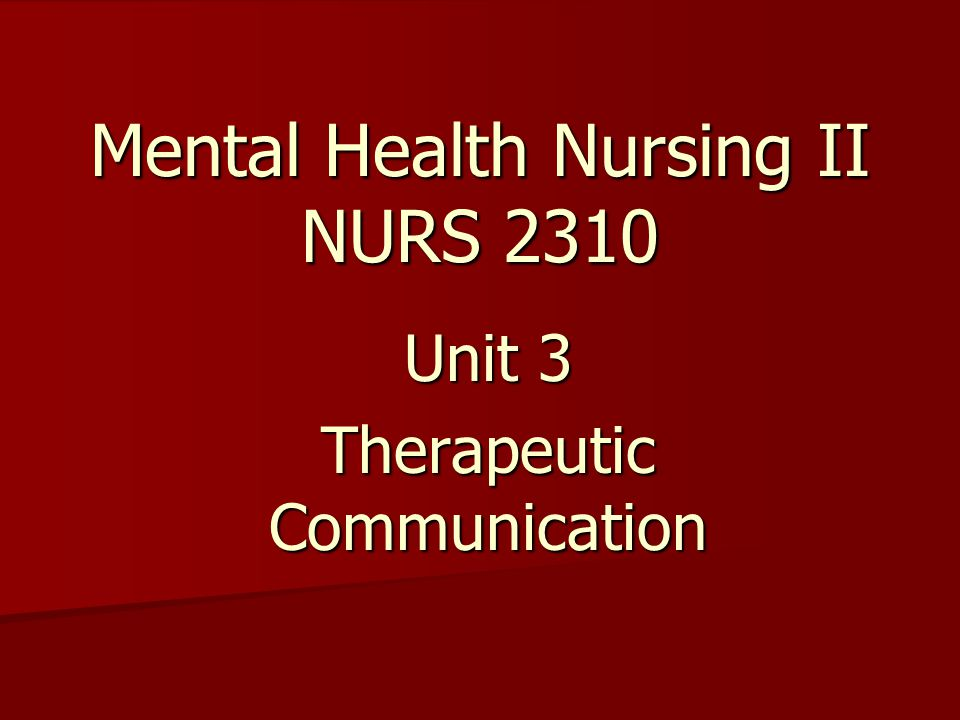 therapeutic relationships in mental health An exploration of mental health nursing students' perceptions of developing a therapeutic relationship with patients with a diagnosis of antisocial personality disorder.