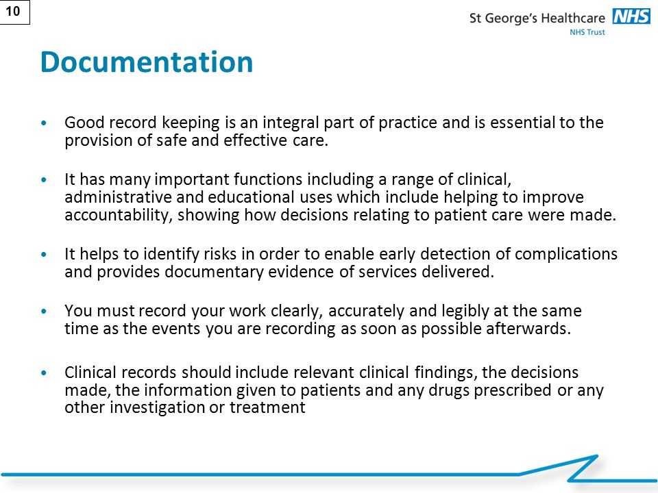 record keeping on patient safety and nursing practice Start studying documentation chapter 7 carefully review the nursing notes (the form on the patient's chart on of unnecessary record keeping.