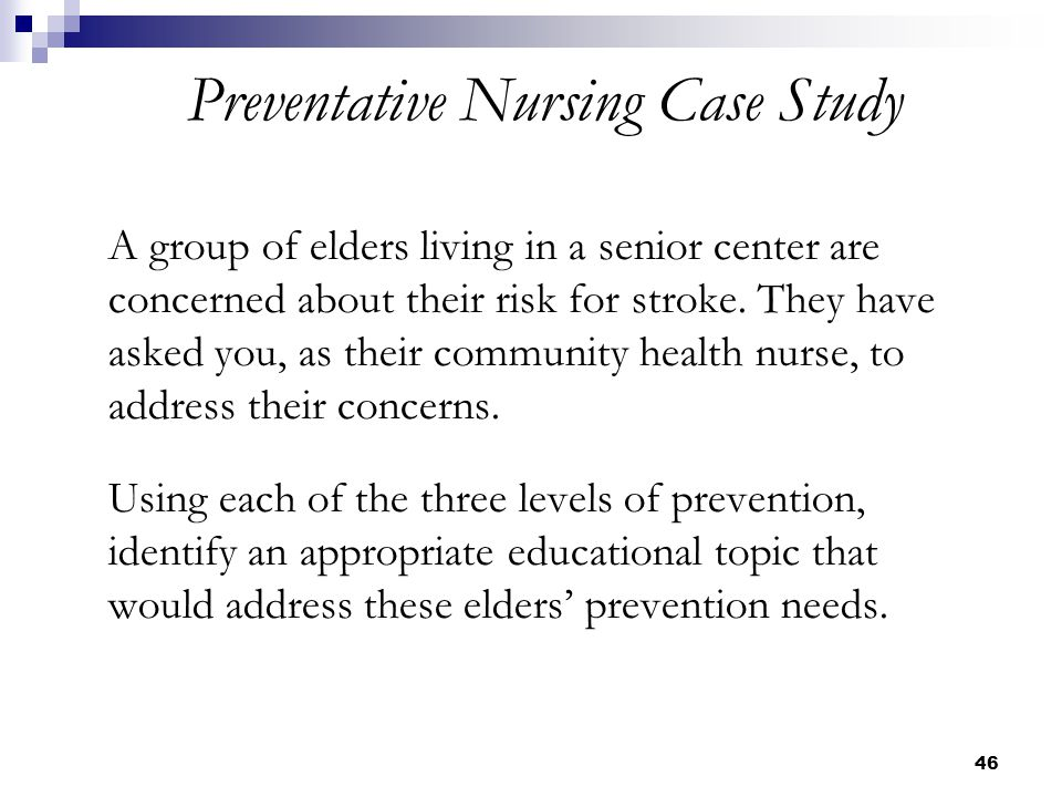 family case study in community health nursing Methods: a hundred community health nurses were recruited from the rural   mixed methods analysis of participant attrition in the nurse-family partnership   community‐based participatory nursing research: a culturally focused case study.