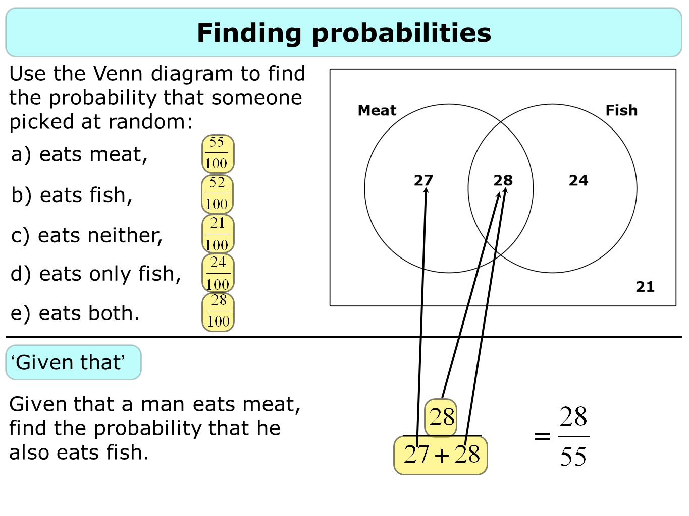 Filling in a venn diagram ppt download finding probabilities ccuart Image collections